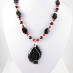 Black Agate necklace on bust