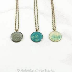 Round painted pendants